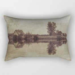 The old house on the lake Rectangular Pillow