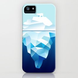 Ice Burg And Polar Bear iPhone Case