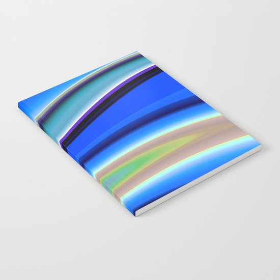 Abstract Fractal Colorways 01BL Notebook