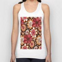 flower pattern Tank Tops featuring Flower Pattern by Eduardo Doreni