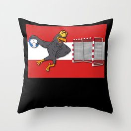 Australia Eagle Soccer Net Team Throw Pillow