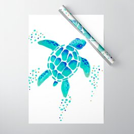 Neptune's Turtle Wrapping Paper