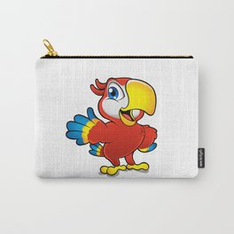 Cute cartoon colorful macaw  Carry-All Pouch