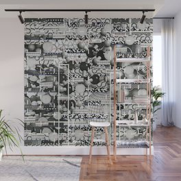 Divergence Toward Chaotic Attractors (P/D3 Glitch Collage Studies) Wall Mural