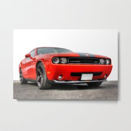 Red Dodge Challenger Metal Print