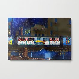 Fab Five Freddy Campbell's Soup Subway Train - Harlem to Bronx Portrait Painting by Jeanpaul Ferro Metal Print