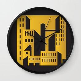 Golden city art deco Wall Clock