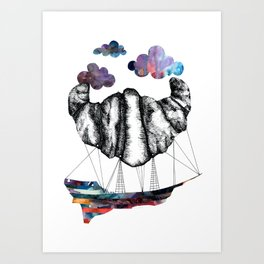 Intergalactic Zeppelin Art Print