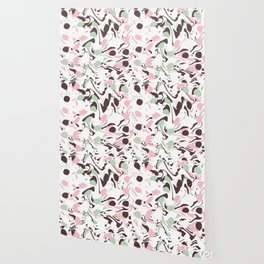 Stirred colors on white Wallpaper