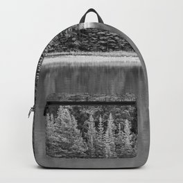 Forest Across the Lake (Black and White) Backpack