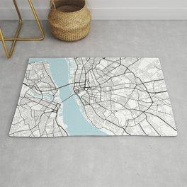 Liverpool City Map of England - Circle Rug