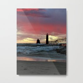 Red, white and blue sunset Metal Print