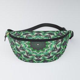 Green knit pattern kaleidoscope 3D Fanny Pack