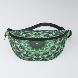 Green knit pattern kaleidoscope 3D Fanny Pack