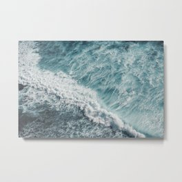 Saltwater Feelings Ocean Surf Metal Print