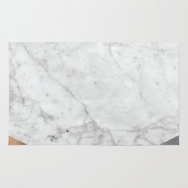 White Marble Wood & Silver #157 Rug