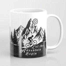 Let the adventure begin - mountain biking Coffee Mug