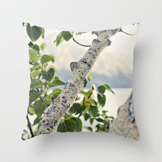 Under the Green Tree Throw Pillow
