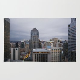 Downtown Seattle Cityscape Rug