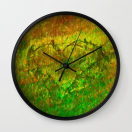 The Heart - Painting by Brian Vegas Wall Clock
