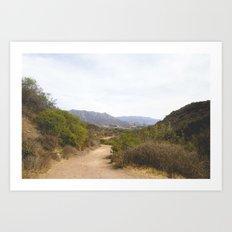 Wide Open Trail Art Print