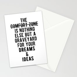 Inspiring - Outside Your Comfort Zone Quote Stationery Cards
