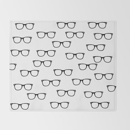 I See // Hipster Glasses Pattern Throw Blanket