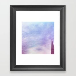 Steeple + Sky Framed Art Print