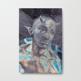 BLUE DEVIL Metal Print