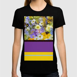 Floral Pattern And Bold Color T-shirt