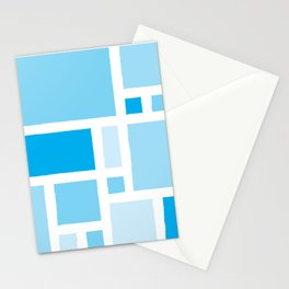 Mondrian has the Blues Stationery Cards