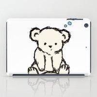 teddy bear iPad Cases featuring Teddy by RaJess