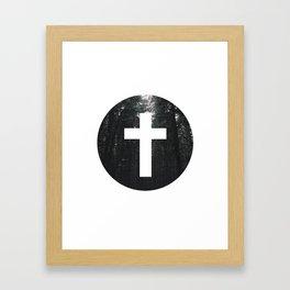 Cross Circle Framed Art Print
