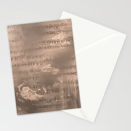 Sheet Music - Mixed Media Partiture #2 Stationery Cards