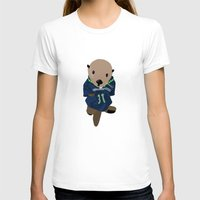 seahawks T-shirts featuring The Littlest Seahawks Fan by Carrie Ambo