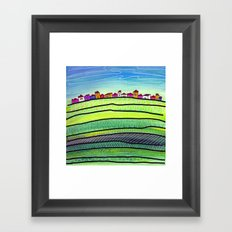 Palouse farm town Framed Art Print