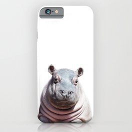 Baby Hippo, Baby Animals Art Print By Synplus iPhone Case