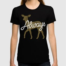 Always Black Womens Fitted Tee X-LARGE