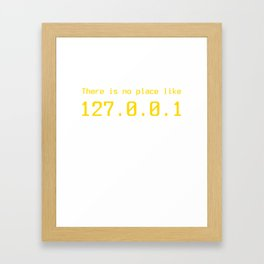 127.0.0.1 - IP address Framed Art Print