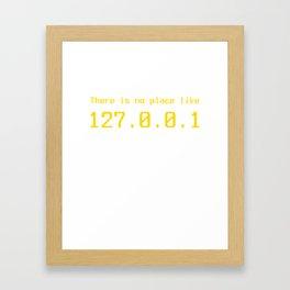 127.0.0.1 - IP address Framed Art Print