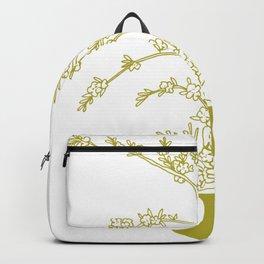 Olive Flowers in Vase Backpack
