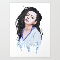 charli xcx Art Prints featuring Charli XCX Slime by firemylions