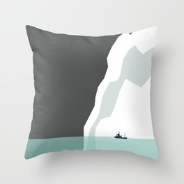 Feeling Small - Iceberg Throw Pillow