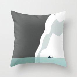 Feeling Small - Iceberg Throw Pillow