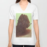 breathe V-neck T-shirts featuring BREATHE by sincerelykarissa