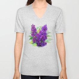 Watercolor Lilac Unisex V-Neck