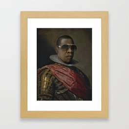 Portrait of Jay Z in Armor Framed Art Print