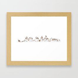 Doglong Day Framed Art Print