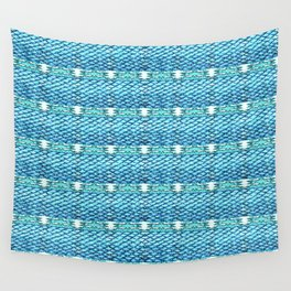 Mermaid Glitch Texture Abstract Wall Tapestry