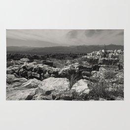 Black and white I landscape Rug